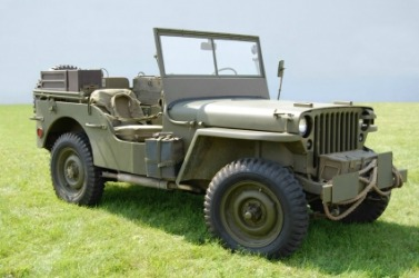 A World War II army jeep.