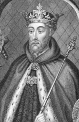A portrait of John of Gaunt.