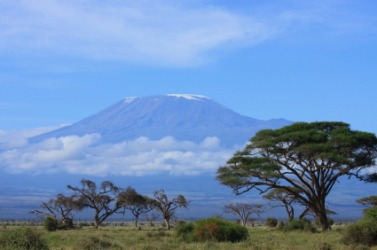 A view of Mount Kilimanjaro.