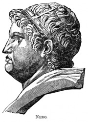 An engraving of the Emperor Nero.