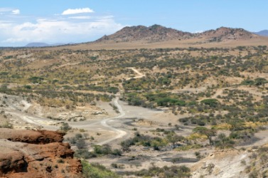 Part of the Olduvai Gorge.