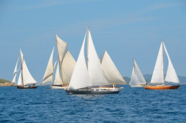 A group of sailboats.