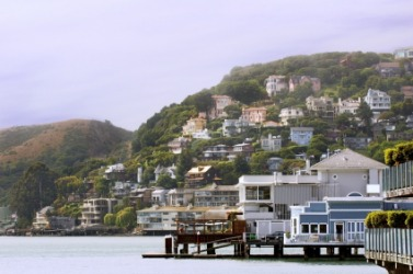 A view of Sausalito, California.