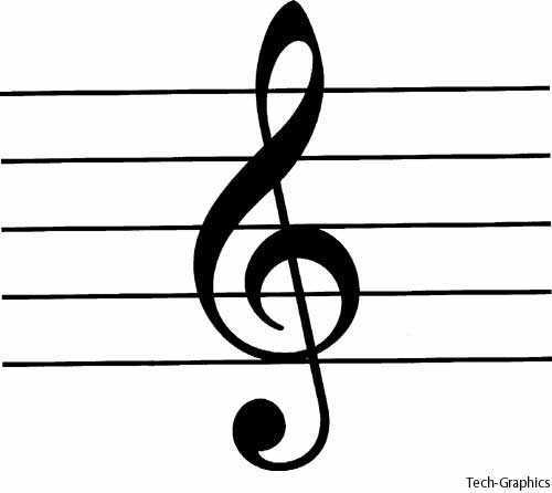 treble clef - Definition of