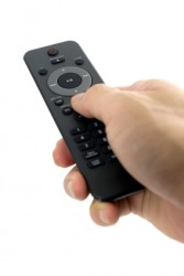 A remote is used to activate the DVD player.