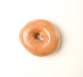 Glaze on a donut.