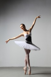 A ballet dancer is graceful.