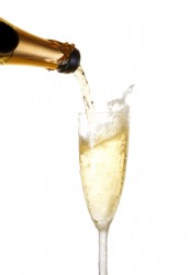 This champagne is very bubbly and is also called bubbly.