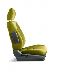 An illustration of a bucket seat for an automobile.