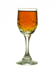 A glass of amontillado sherry.