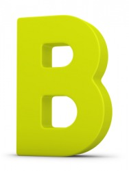 The letter B.