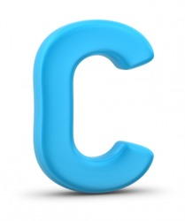 The letter C.