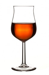 A glass of Armagnac brandy.