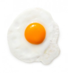 A fried egg.