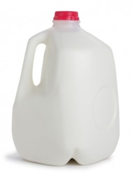 A gallon of milk.