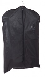 A black garment bag.