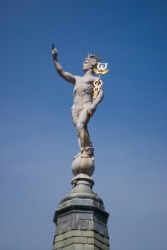 A statue of Hermes.