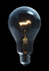 A bulb for an incandescent lamp.