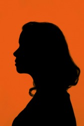 The silhouette of a woman.