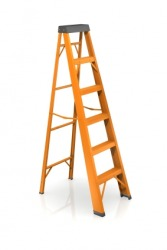 An orange ladder.