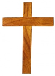 A wooden Latin cross.