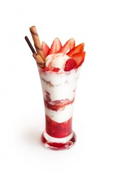A strawberry parfait.