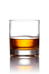 A glass of scotch.